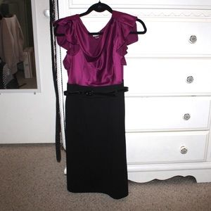 Worthington Fuchsia Dress w/ Belt